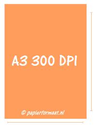 A3 formaat 300 DPI/ PPI: 3508 x 4961 pixels