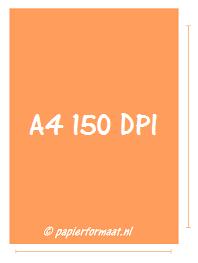 A4 formaat 150 DPI/ PPI: 1240 x 1754 pixels