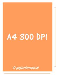 A4 formaat 300 DPI/ PPI: 2480x 3508 pixels