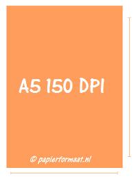 A5 formaat 150 DPI/ PPI: 877 x 595 pixels