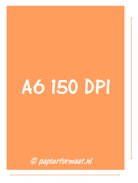 A6 formaat 150 PPI / DPI: 620 x 877 pixels