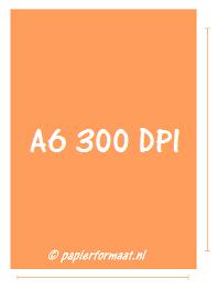 A6 formaat 300 PPI / DPI: 1240 x 1748 pixels